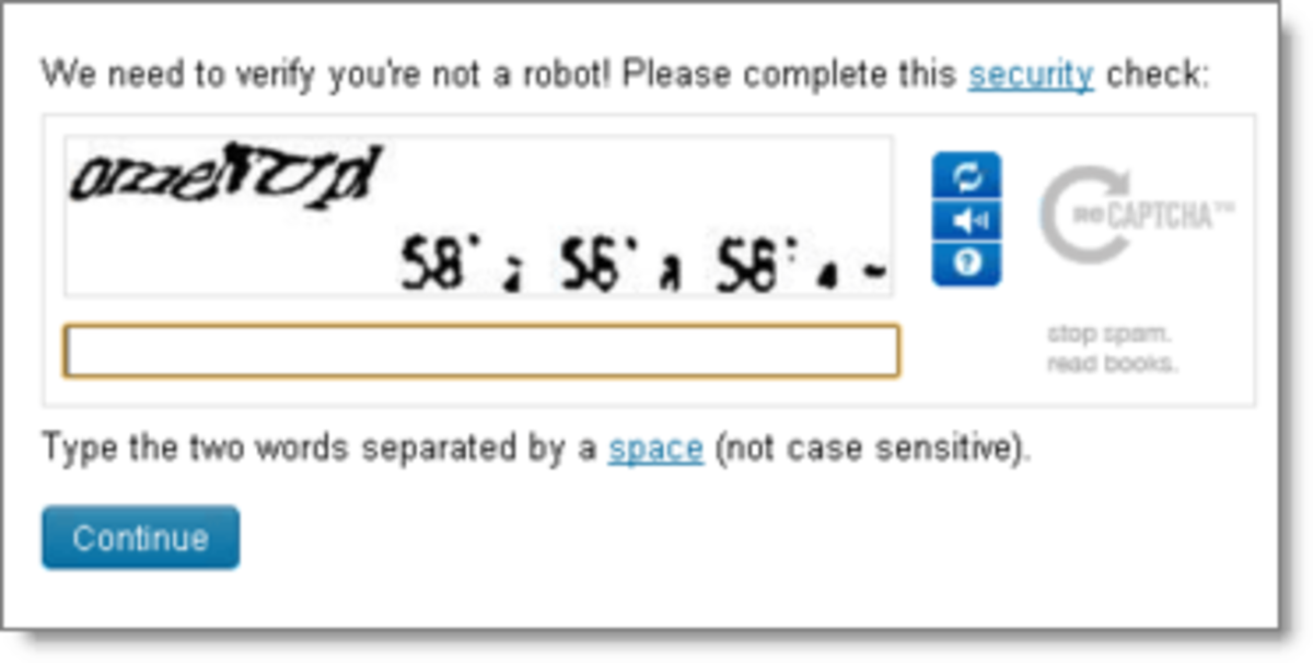 Don't punish your followers with captcha like this!