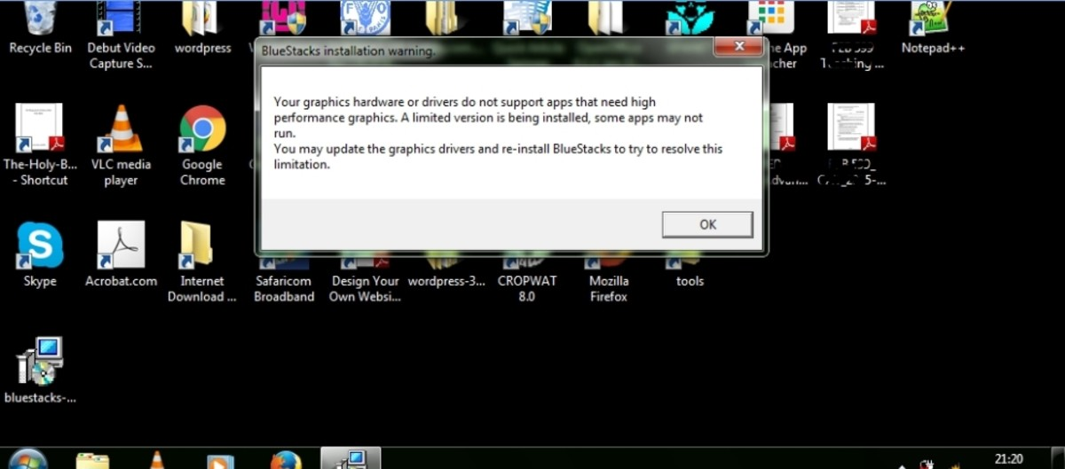 graphics hardware/drivers issue