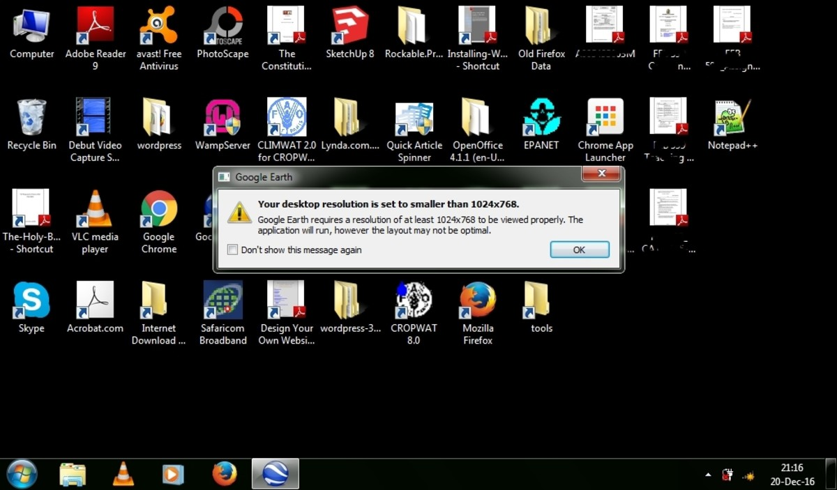 desktop resolution error