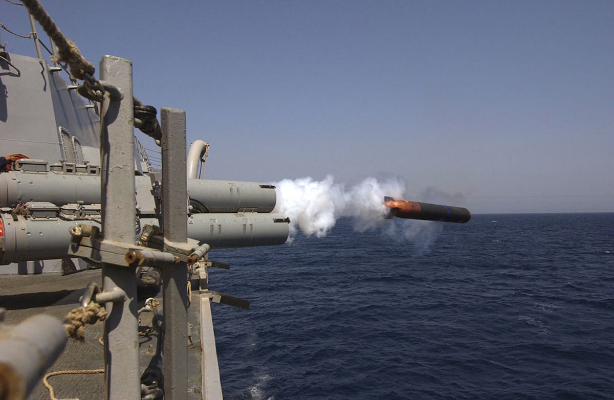 The launch of a torpedo using lithium as fuel