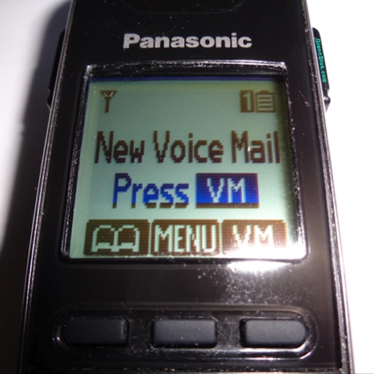 Voice Mail Notification on Panasonic handset.