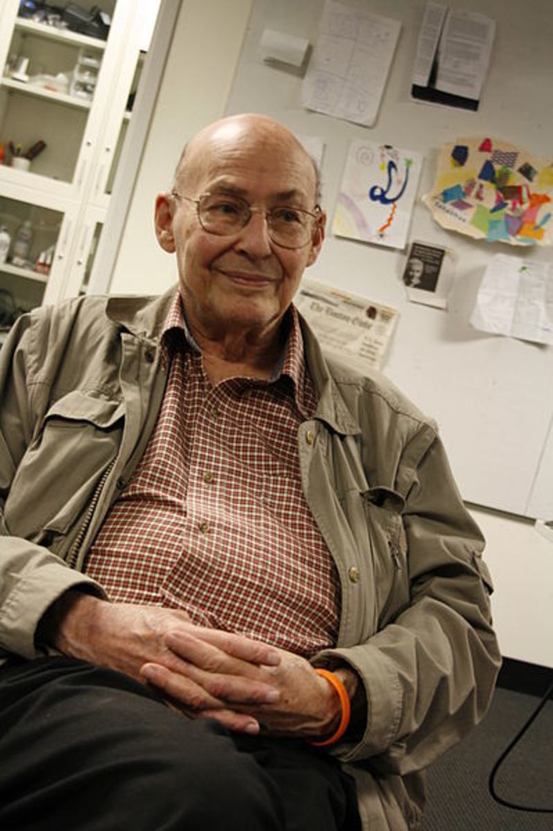 Marvin Minsky: no wonder he's got that wry smile on his face.