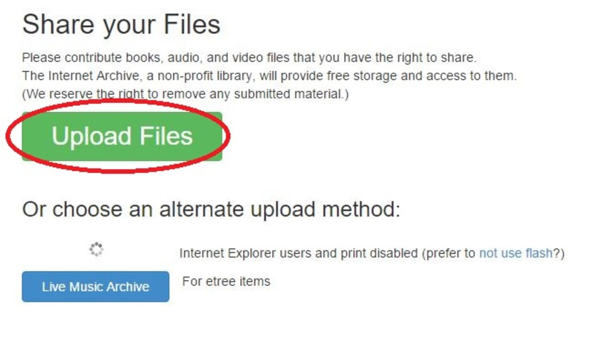 Click to upload your podcast MP3 file to archive.org.