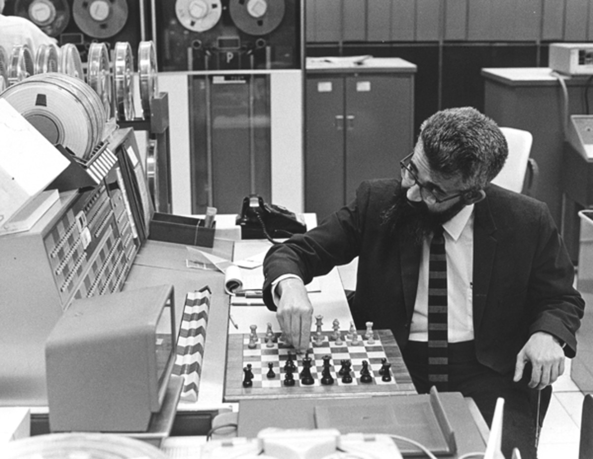 Early AI research was interested in seeing if a computer program could beat a human player at games like chess.