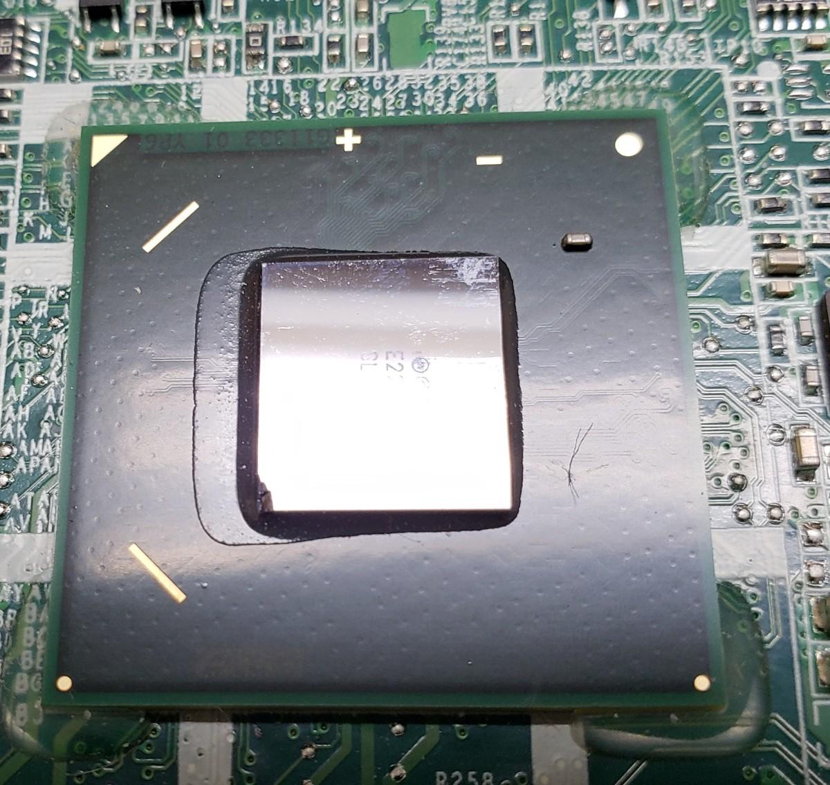 Chipped GPU, Lower Left Corner