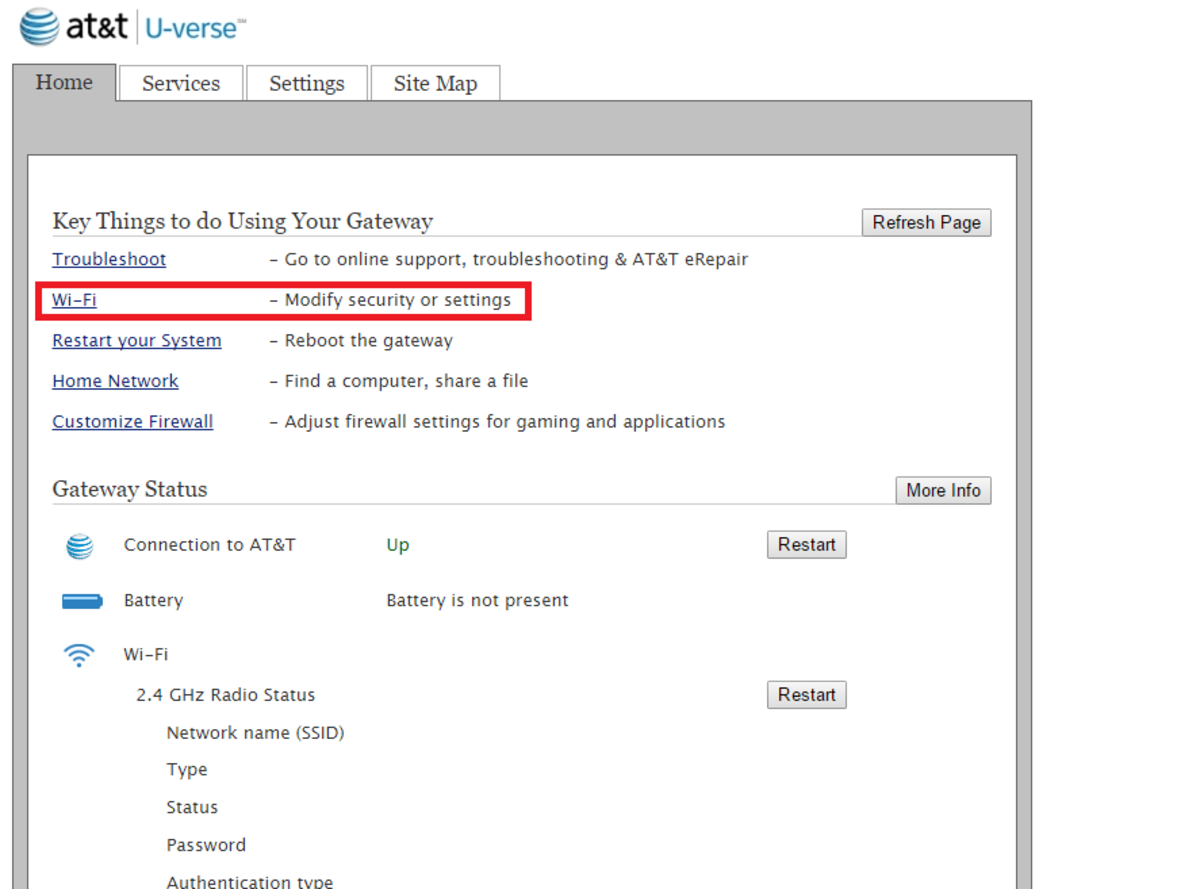 Link to Wi-Fi Settings