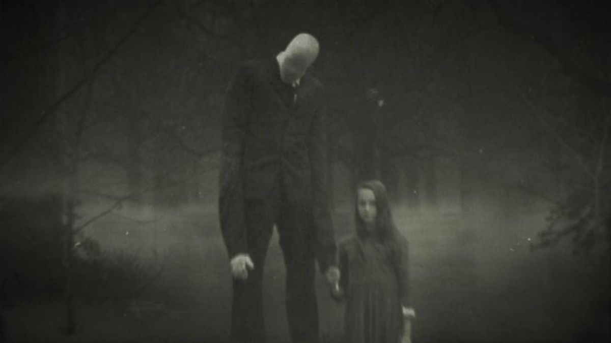One of many images of Slenderman spread around online.