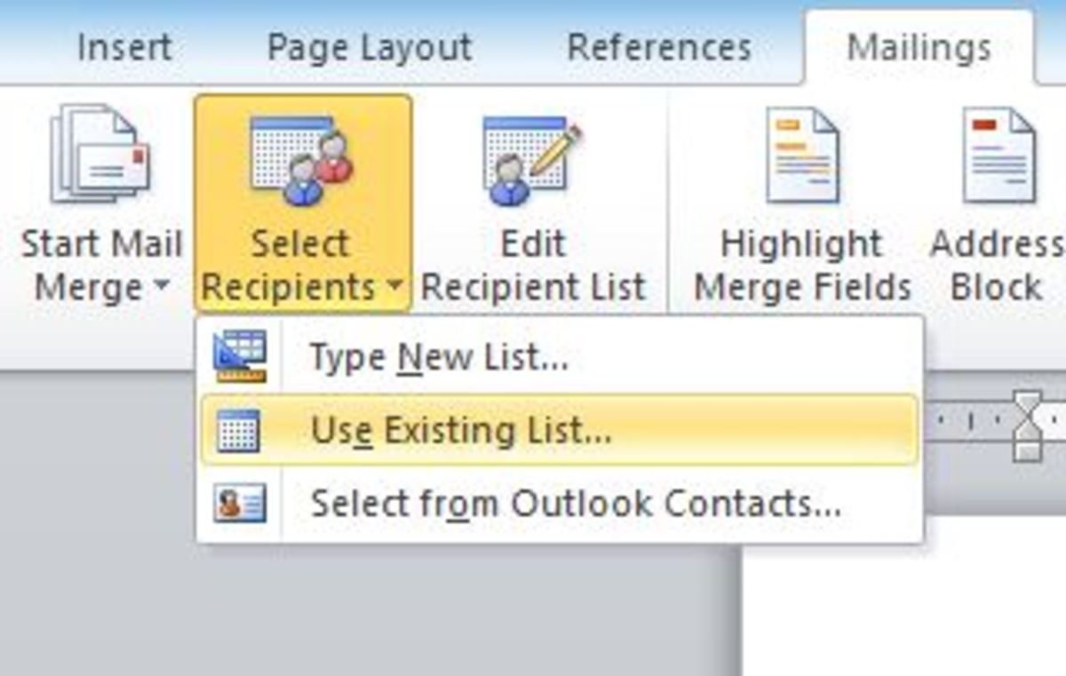 excel mail merge template