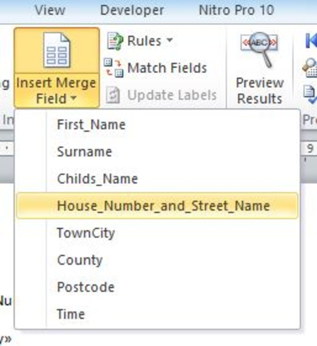 How to write letters using mail merge and an excel spreadsheet you are now able to start entering your mail merge information stopboris Choice Image