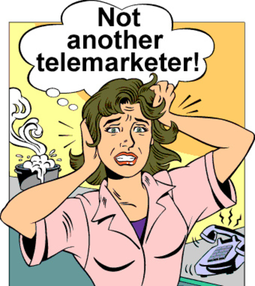 Not another interruption from a telemarketer!