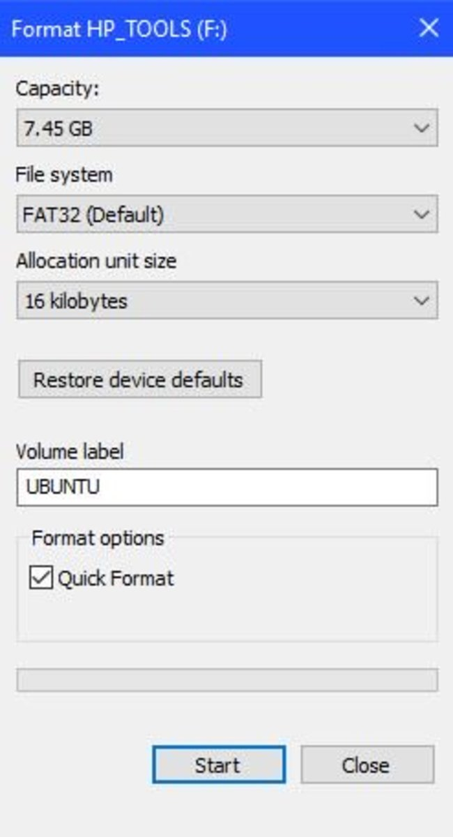 Open the Rufus USB Installer.
