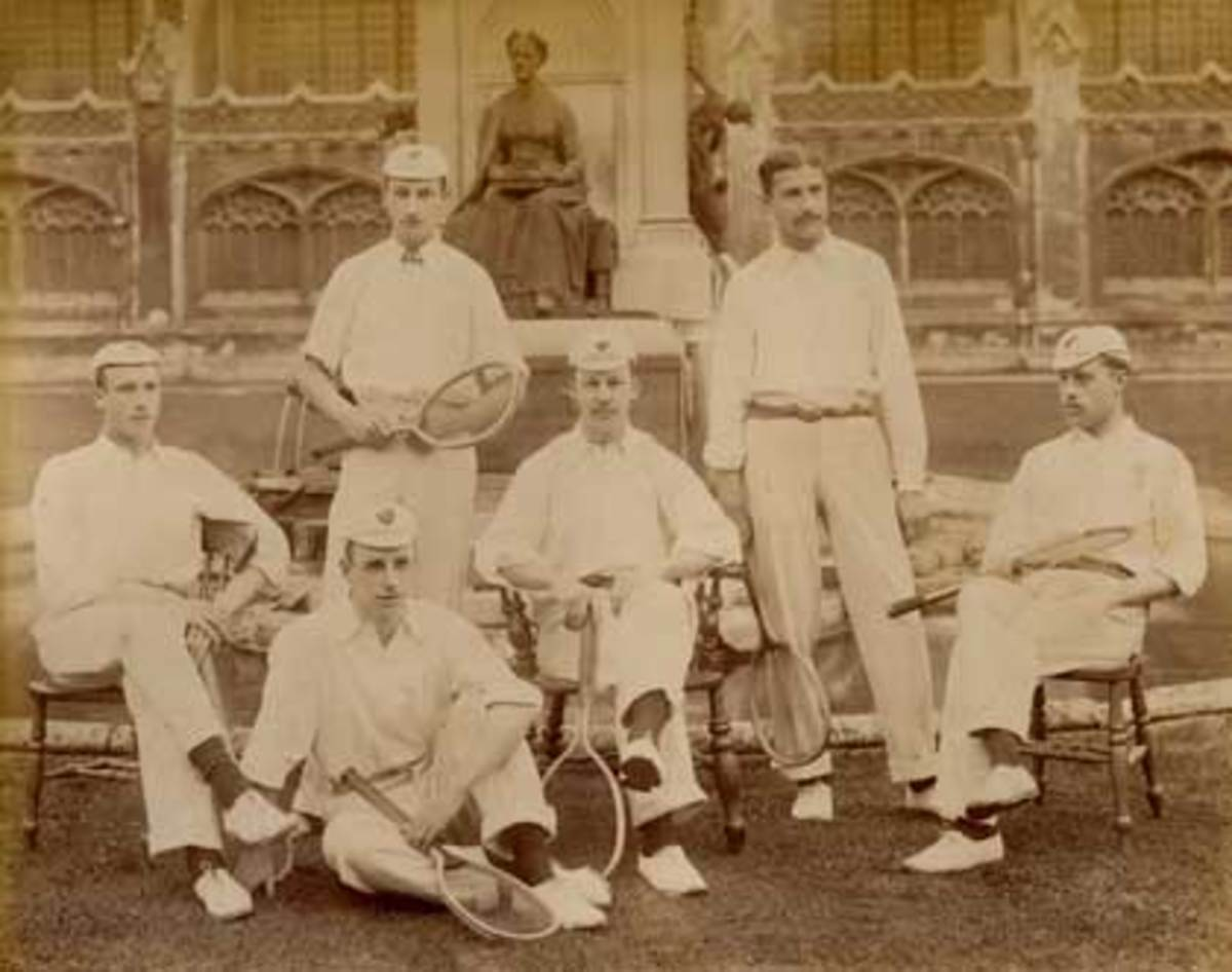 King's College lawn tennis team, Cambridge University 1897.