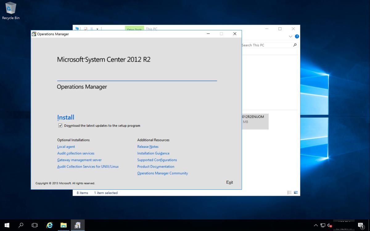 How to Install Microsoft SCOM 2012 R2   TurboFuture