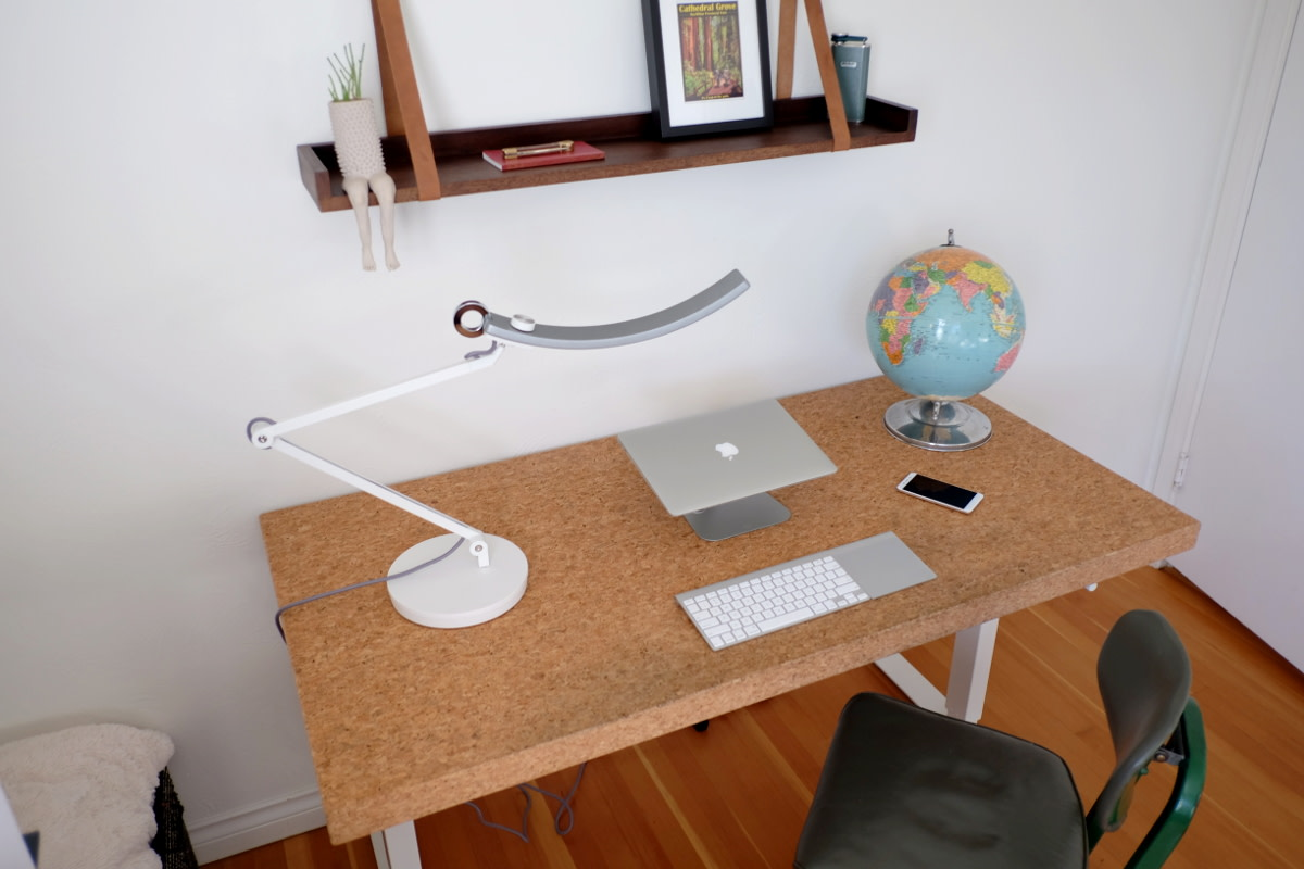 By positioning it above your computer screen, the eReading LED lamp will illuminate your keyboard and desk without adding glare.
