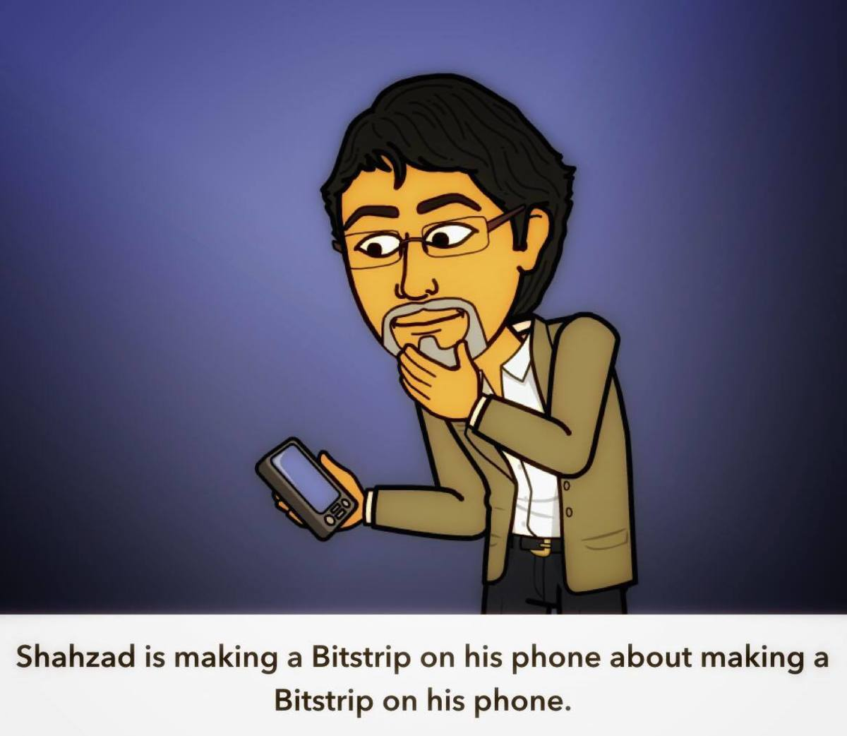 A Bitstrip cartoon