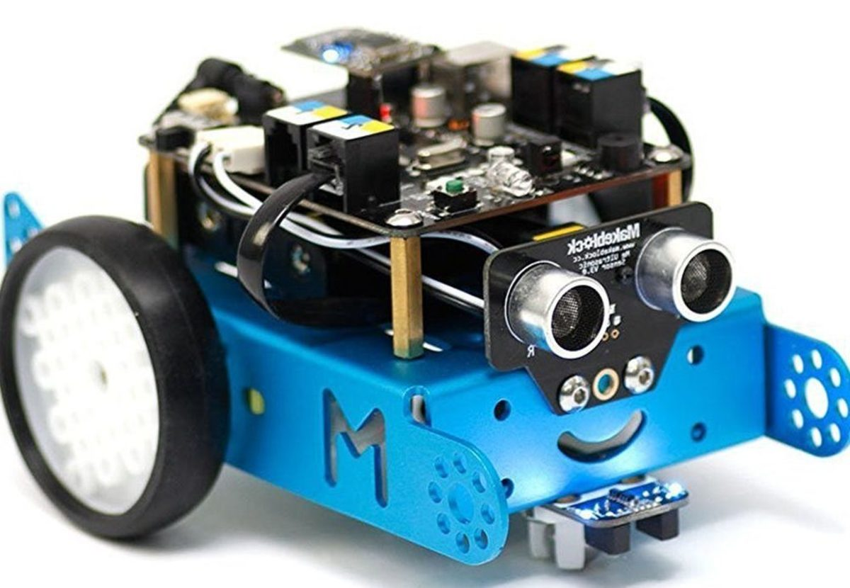 The Makeblock mBot Kit Programmable Robot teaches children about robotics, electronics and how to write computer programming code.