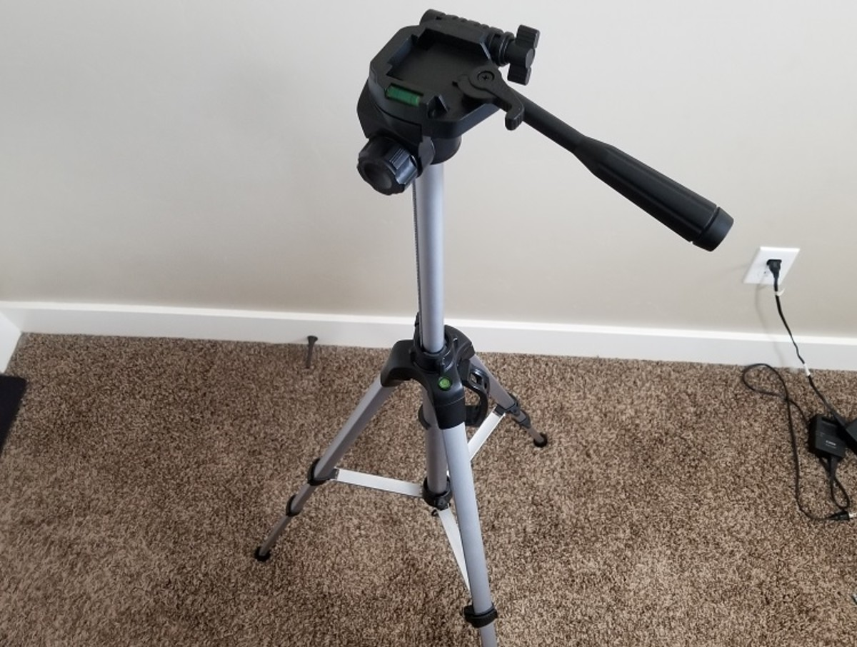 This inexpensive tripod, from AmazonBasics, costs only $25 and makes for a great stationary option in your home office.