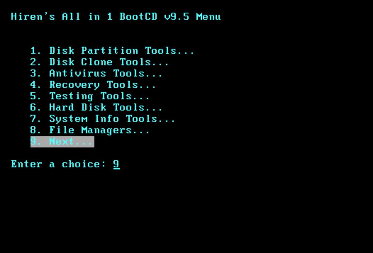 The HIREN CD bundles several types of system software for troublesshooting purposes .