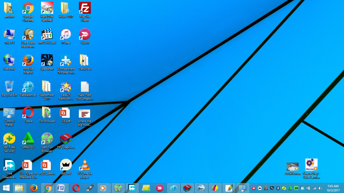 Windows 8.1  operating system, is an example of system software