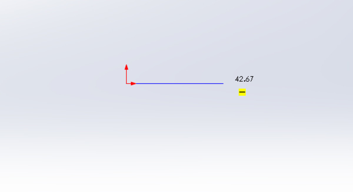 Notice the horizontal yellow marker when drawing the line