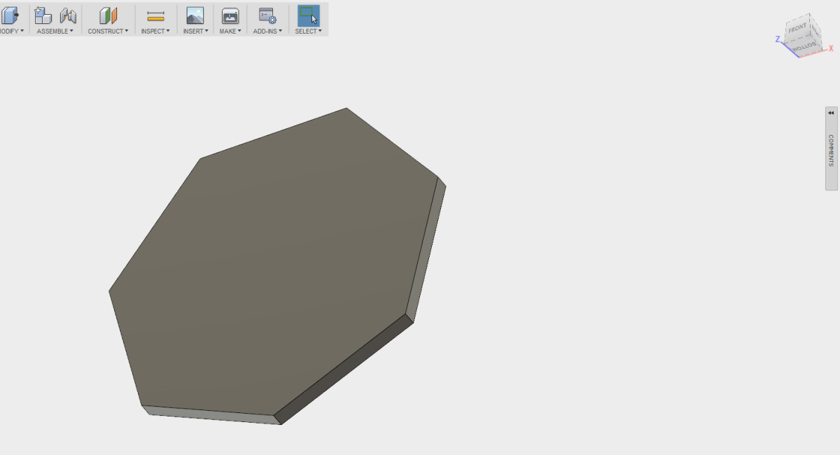 After you apply the extrusion, rotate the part a bit to have a look at it.