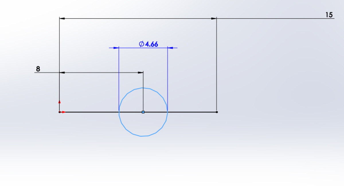 Defining the circle's diameter