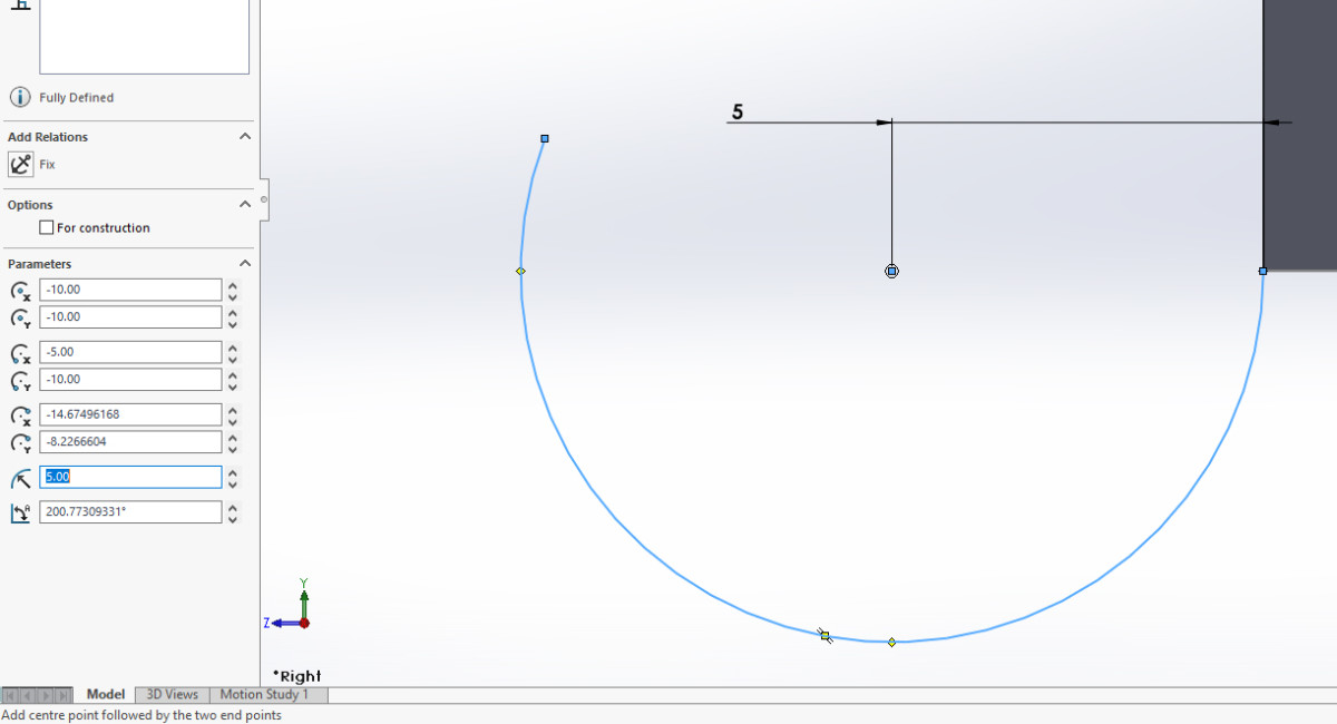 Defining the arc length