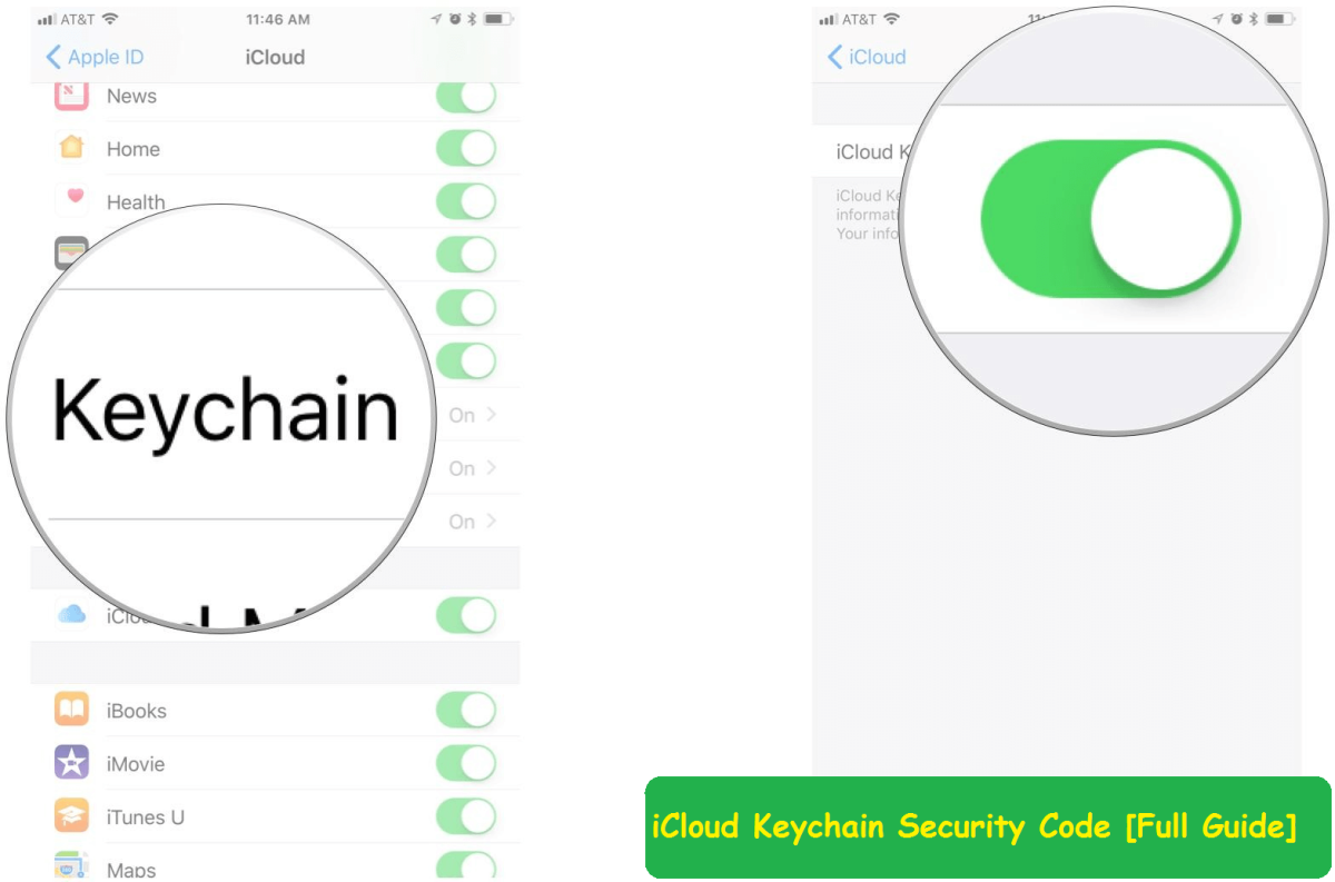 How to setup new iCloud key chain on any device having iOS or MAC OS  4c4db4b700