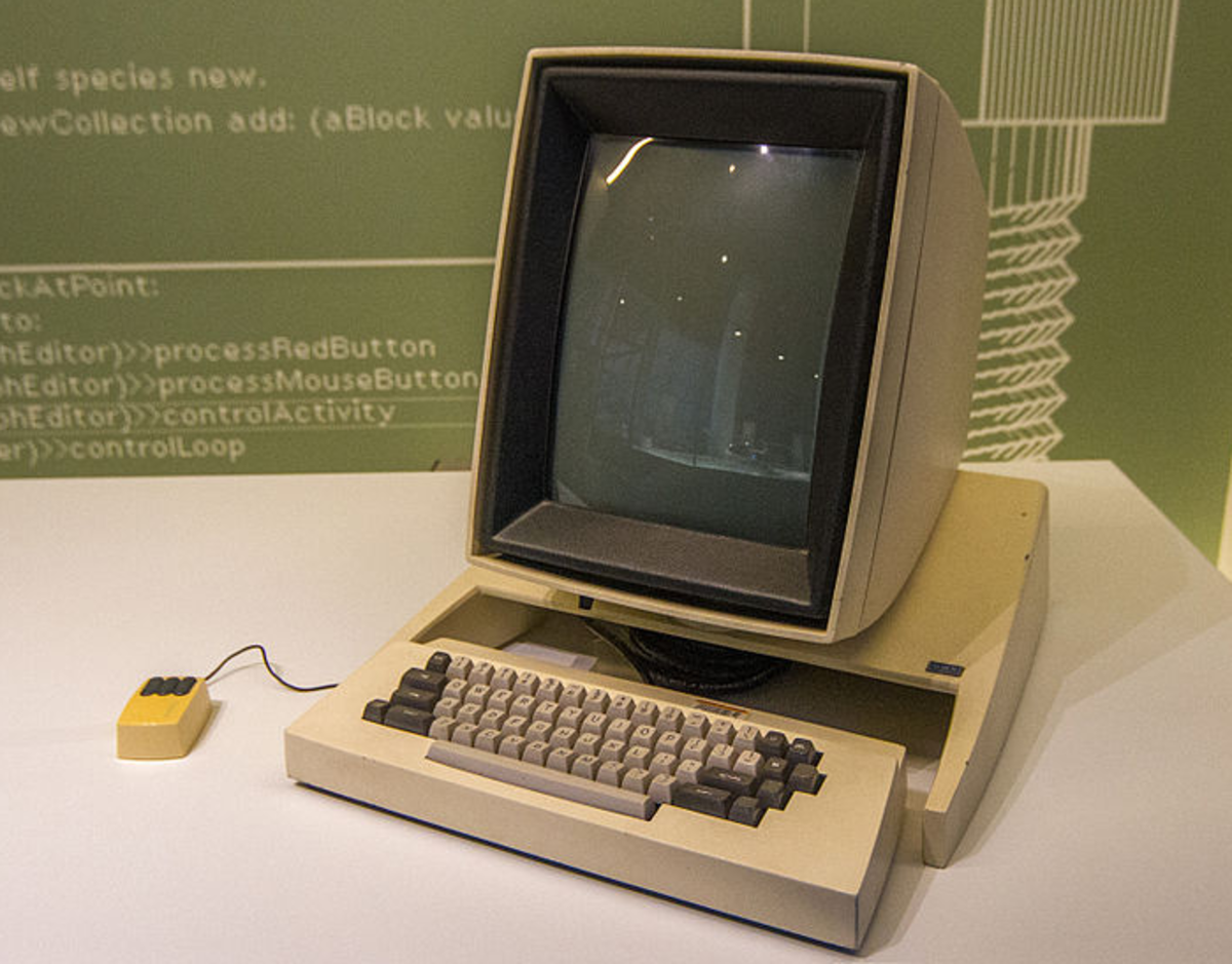 Xerox Alto, arguably the firsst PC from 1973. It was powered by TI SN74S181N ALU chip from Texas Instruments