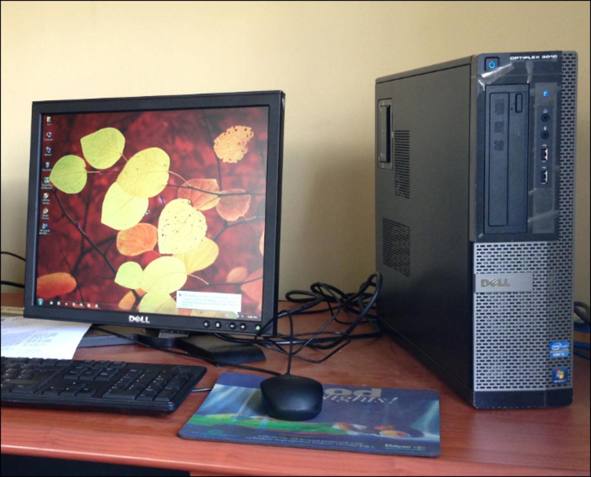 A desktop computer