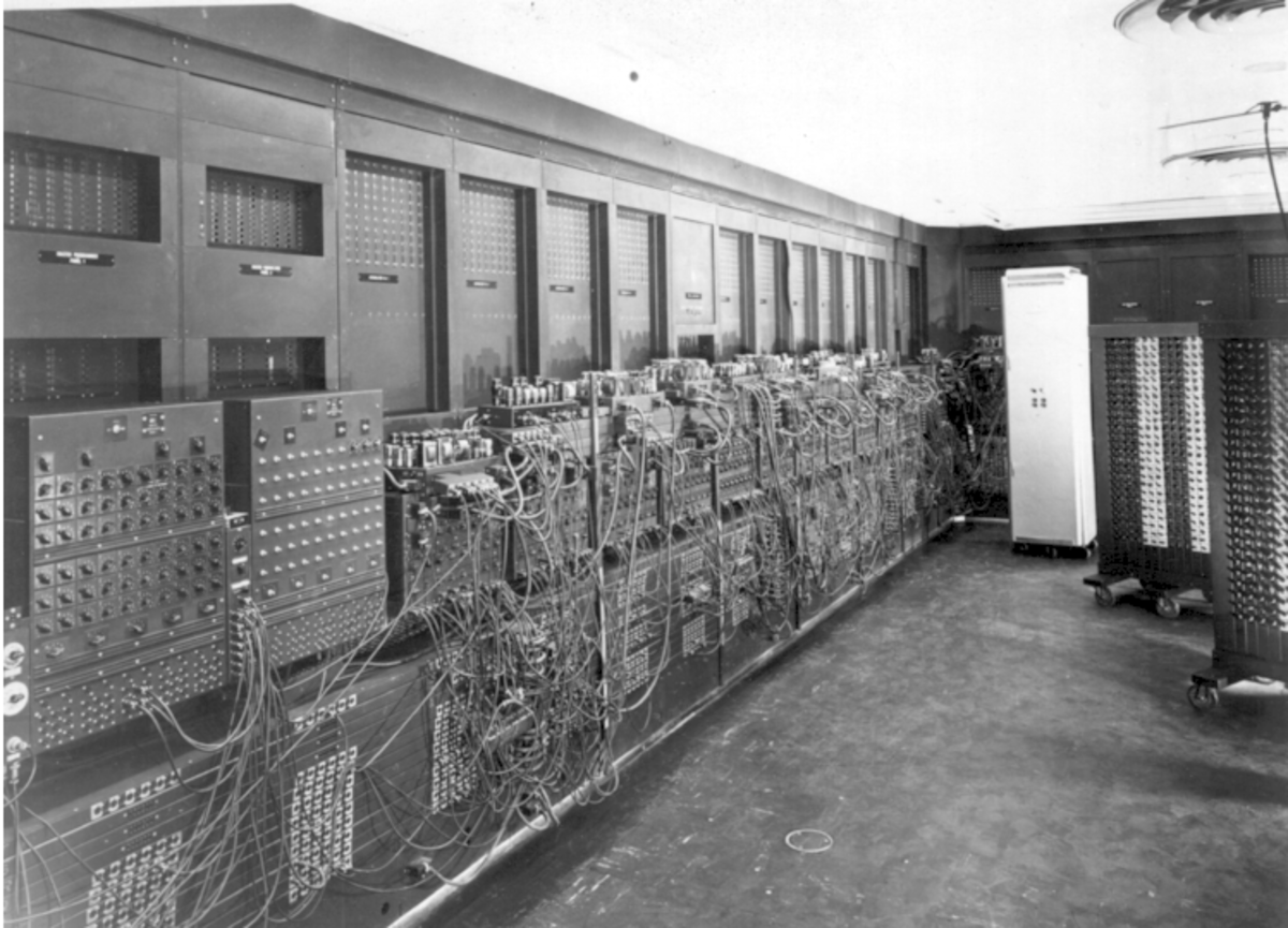 The left side of The ENIAC computer