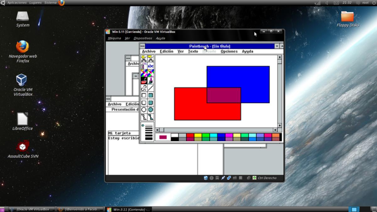 Ubuntu running MS Windows 3.11 under VBox