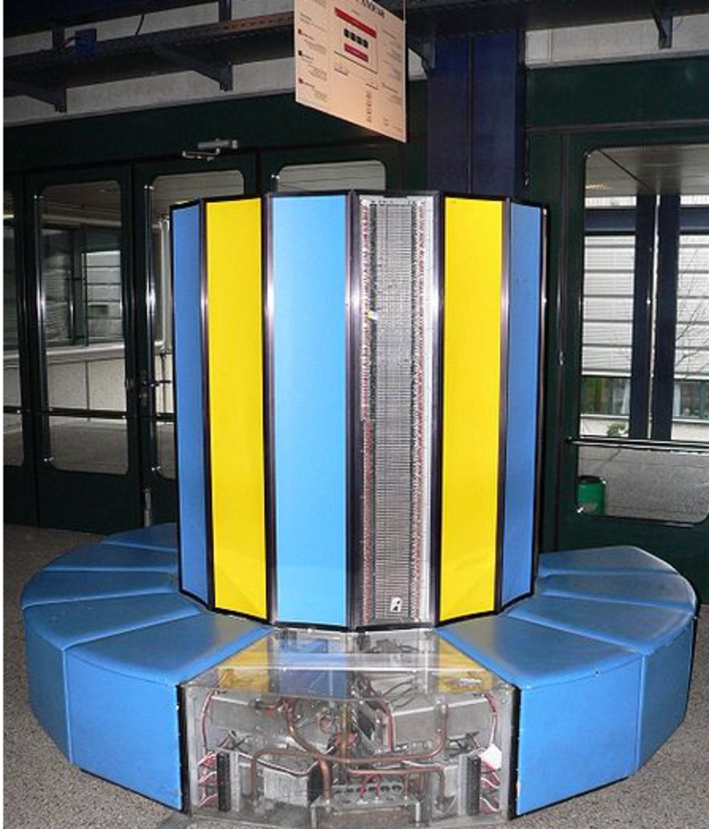 The Cray-1 supercomputer of 1975