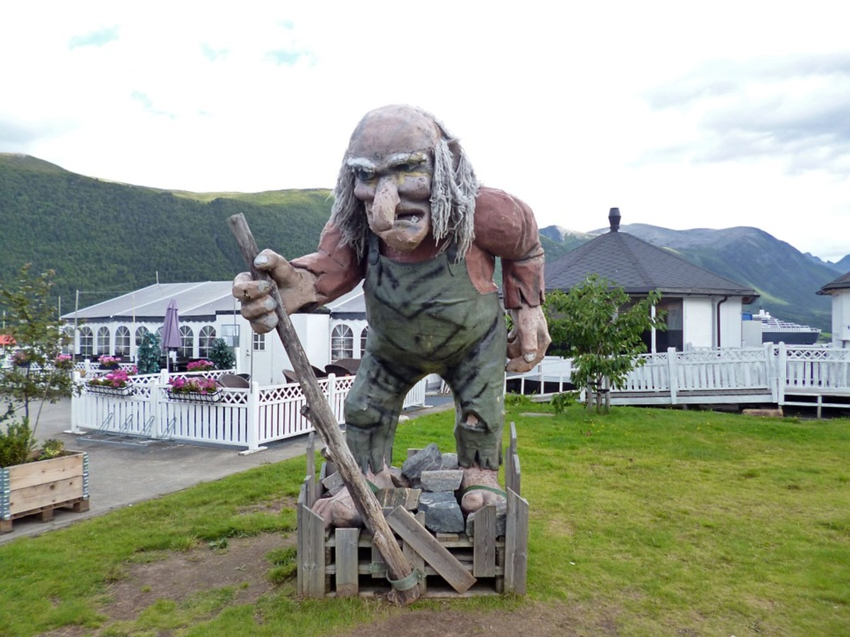In Scandinavian mythology, trolls are believed to pose a danger to humans.