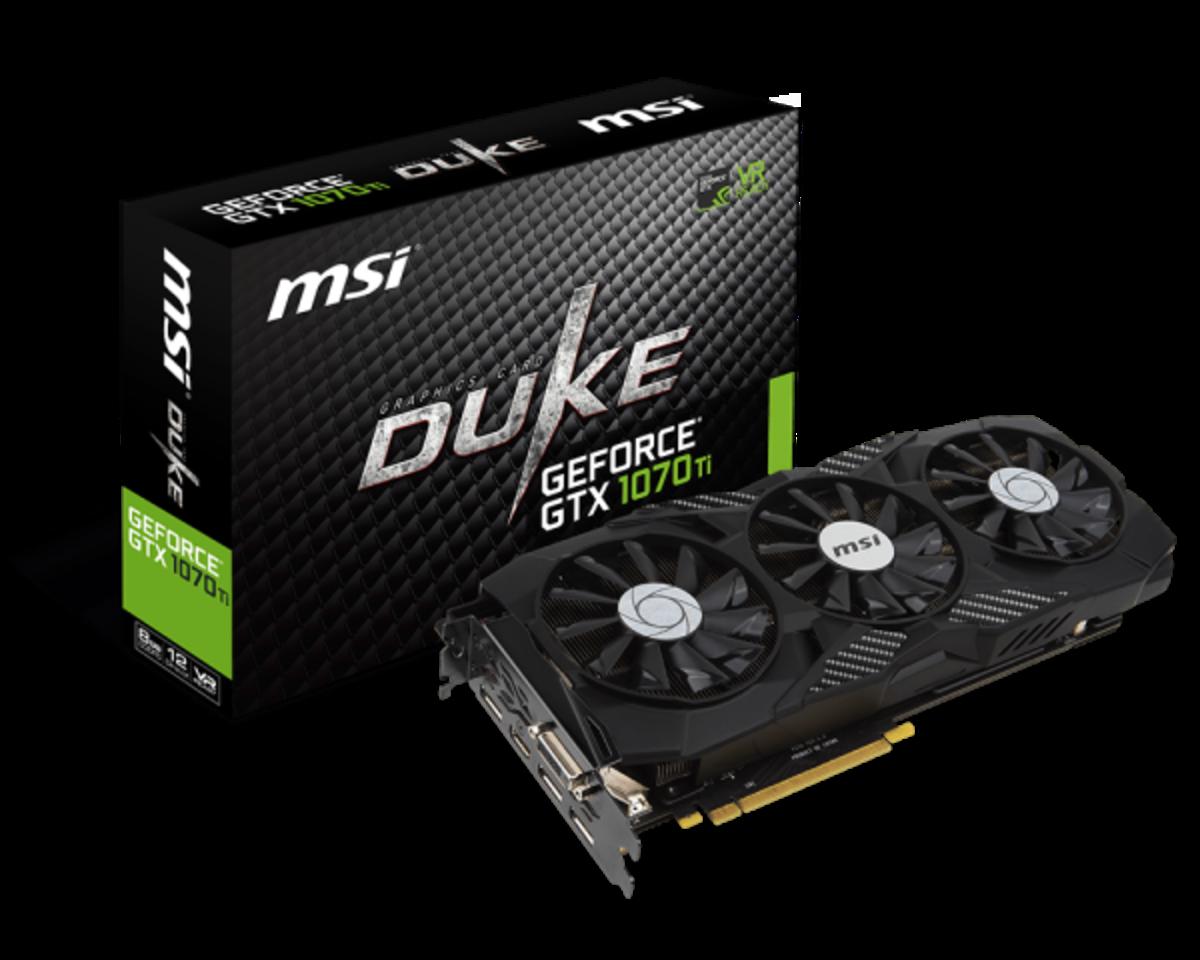 MSI GTX 1070 Ti Duke 8GB Graphics Card