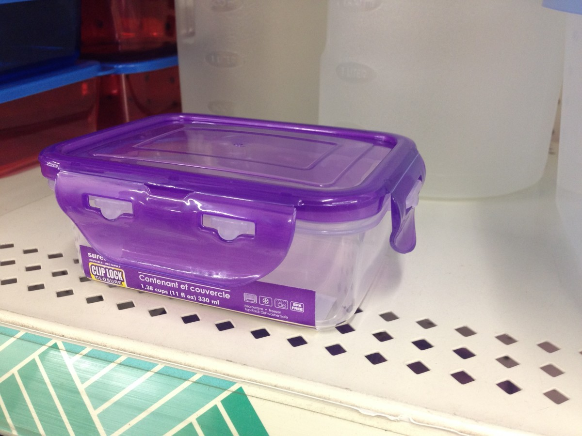 These plastic containers come in various sizes and make a good temporary enclosure.