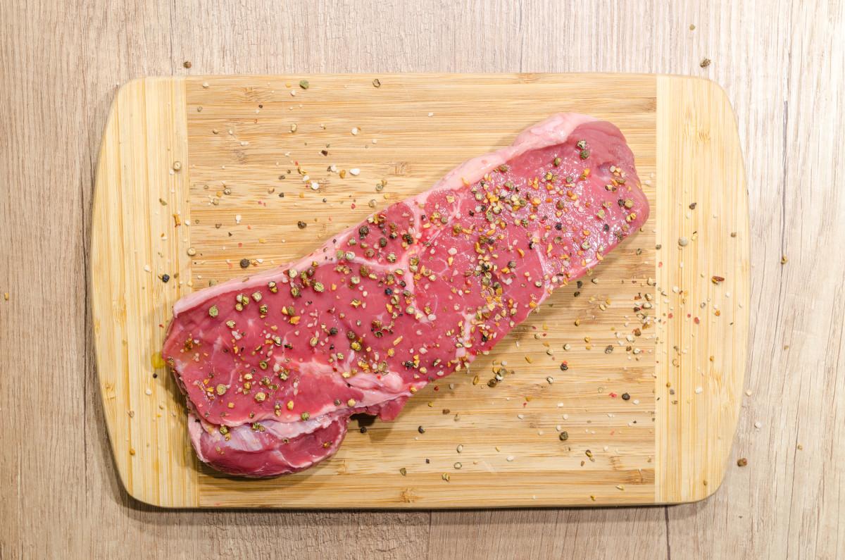 Raw meat. Bon appetit.