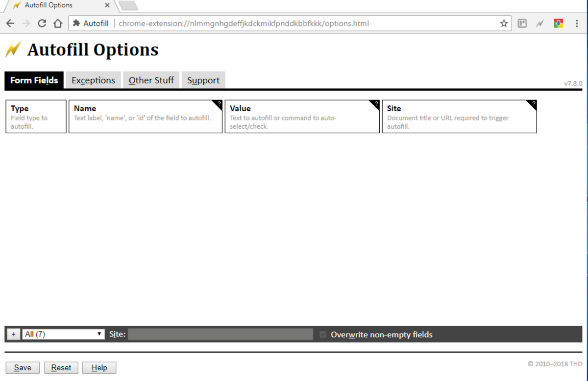Preview of the extension's UI when enabled in Chrome.