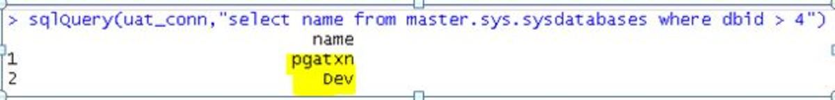 SQL Server data in R