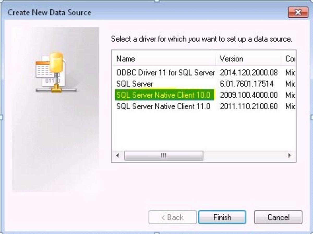 Select Drivers for data source