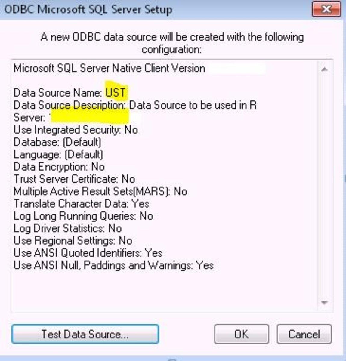 Test Data Source