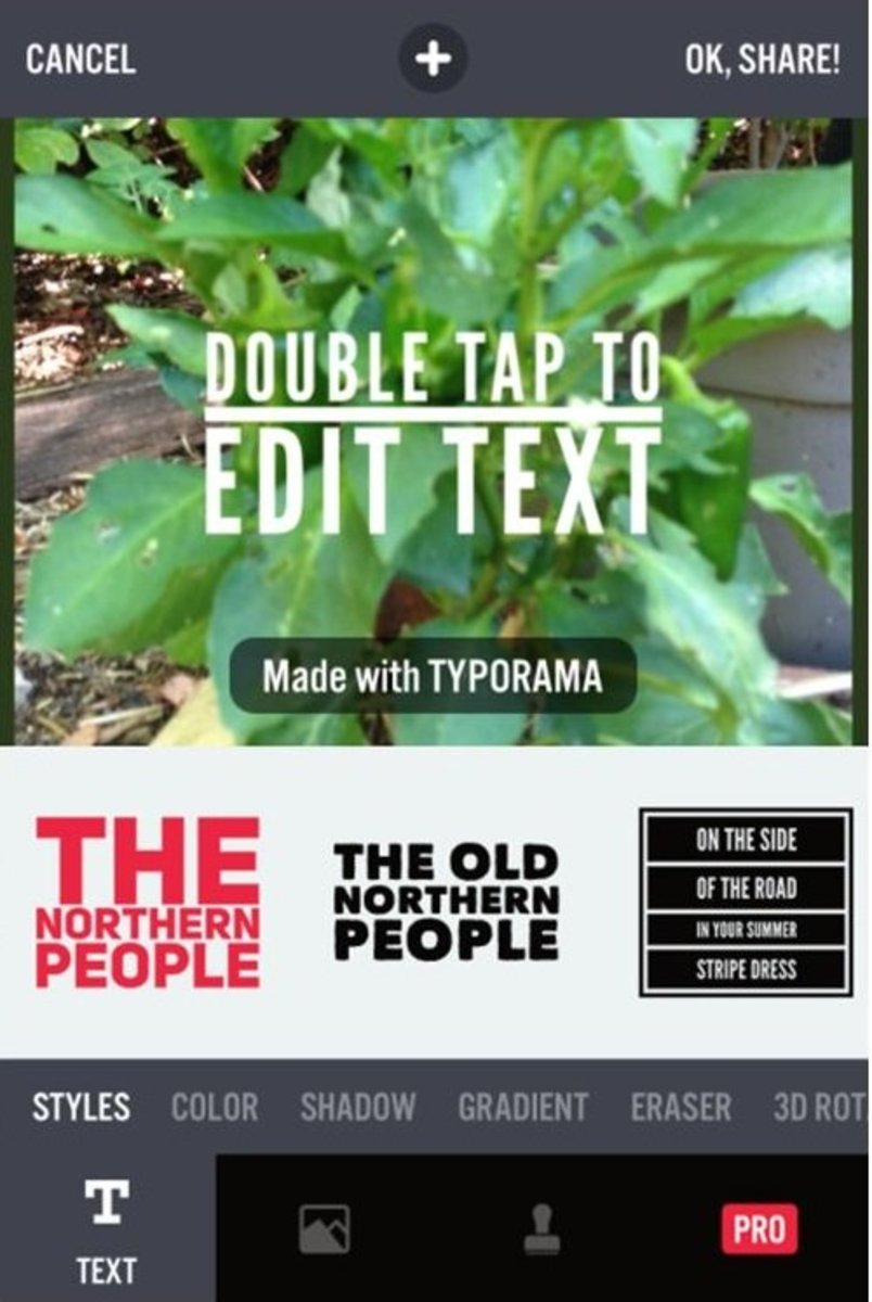 Typorama Mobile Phone App