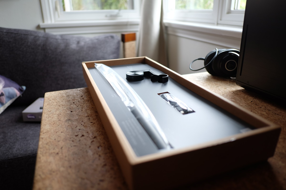 The BenQ ScreenBar is elegantly packaged and labeled, and it has a premium feel.