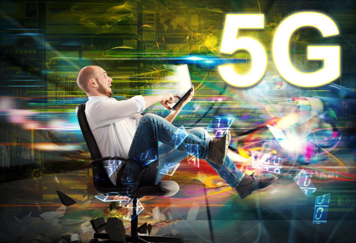 An artist's depiction of 5G Electrosmog