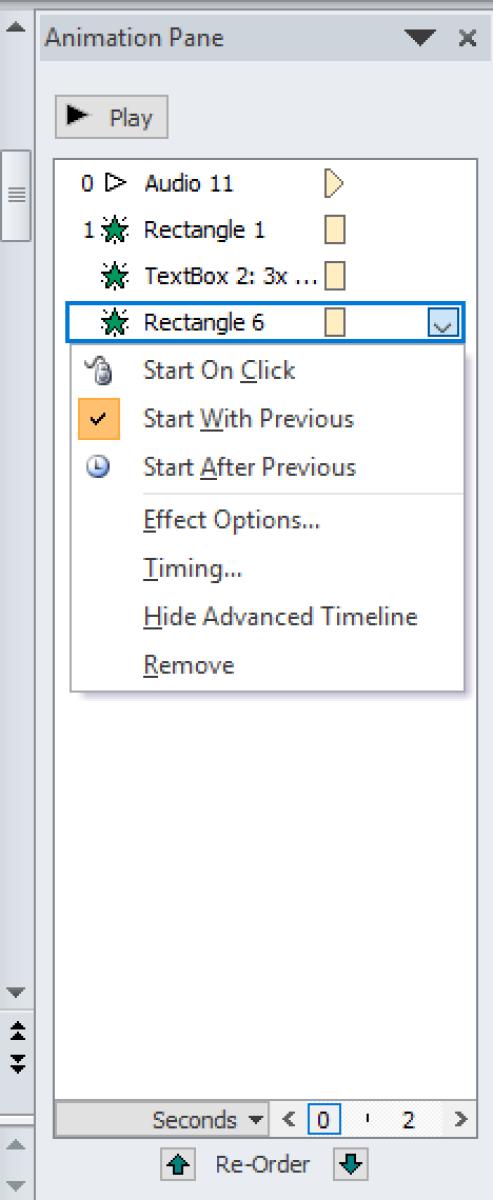 Microsoft PowerPoint Animation Pane
