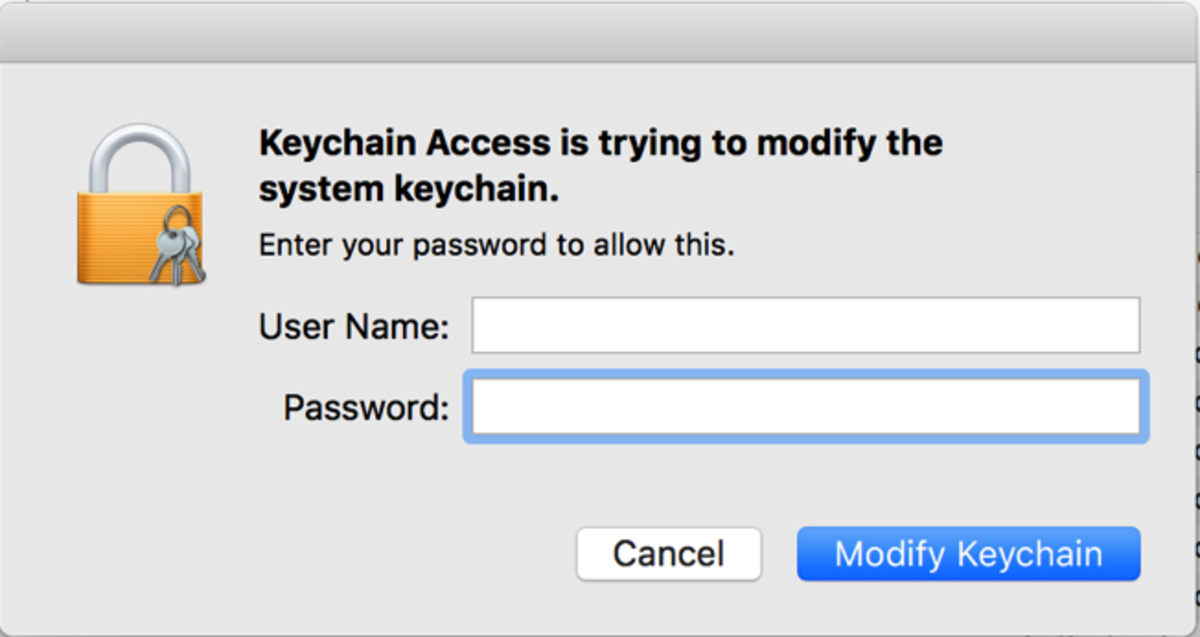 Enter the administrator credentials on your Mac to make changes