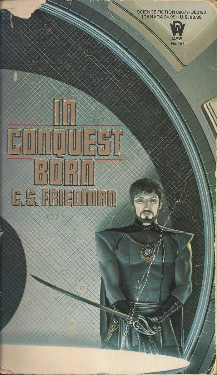 "You can tell from the cover I'd read ""In Conquest Born"" many times before writing an online review of it."