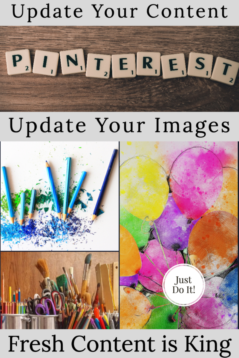 Fresh Content is Prioritized.  Update your images to give your work a better chance of being shared.