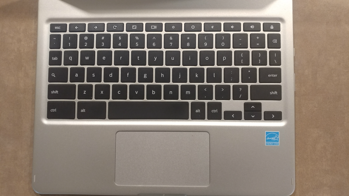 This is the keyboard of the computer.