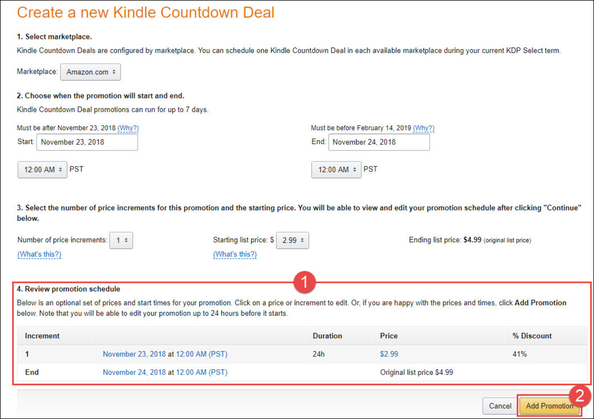 KDP Select - Review Promotion Schedule